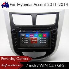 "7"" Car DVD Nav GPS Head Unit Stereo Radio For Hyundai Accent 2011-2017"