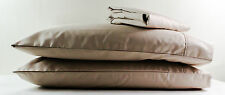 New 1200TC Cotton Queen Bed Sheet Set (Flat, Fitted, Pillows) Camel Brown