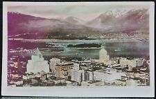 RPPC 1915-30 REAL PHOTO PC - Aerial View Business Section of Vancouver B.C.