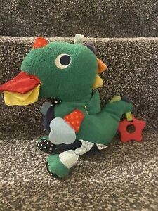 MAMAS & PAPAS GREEN DRAGON Dinosaur BABY SOFT TOY COMFORTER Activity Plush