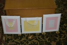 3 Matching Pottery Barn Frames 3 - approx. 11x13 Ribbon Hangers & Set of Mats