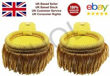 Gold Curved Shoulder Epaulettes with Fringe Yellow Marching Band Epaulette
