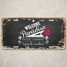 LP0235 Welcome sign Rustic Auto License Plate Pub Bar Restaurant Door Wall Decor
