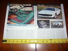1976 1977 1978 1979 1980 LOTUS ESPRIT S1 S2 - ORIGINAL 2011 ARTICLE