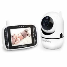 HelloBaby Video Baby Monitor with Remote Camera Pan-Tilt-Zoom, 3.2'' Color LCD