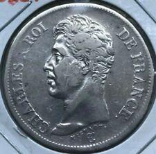 1826 W France 5 Francs - Big Silver