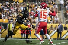PAT MAHOMES KC CHEIFS QB TD PASS  9/16/18 VS PITTSBURGH STEELERS  COLOR 16 X 20