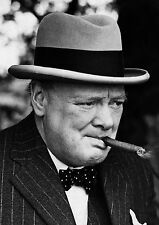 Winston Churchill Smoking Cigar PHOTO Prime Minister UK World War Leader