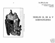 ROLLS ROYCE MERLIN II III & V ENGINE WW2 OVERHAUL MAINTENANCE MANUAL ARCHIVE