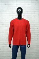 Maglione Uomo RIFLE Taglia XXL Pullover Cardigan Beige Sweater Lana Rosso Man