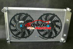 3 Row Alu Radiator + Fans for Pontiac Firebird Trans Am V8 AT 305 350 1970-1981