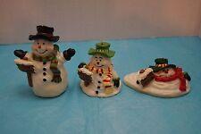 *Santa'S Workbench Christmas Traditions Candle Set - Melting Snowmen*