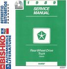 1989 Dodge Dakota Truck Shop Service Repair Manual CD Engine Drivetrain Wiring