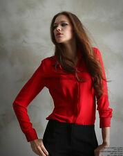 Fashion Women Loose Chiffon Tops Long Sleeve Shirt Casual T-Shirts Blouse