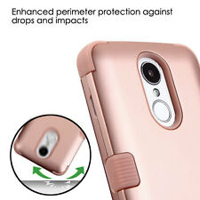 LG ARISTO 2 / TRIBUTE DYNASTY /K8 2017 - ROSE GOLD ARMOR IMPACT PHONE CASE COVER