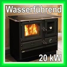 Küchen-Herd WASSERFÜHREND 20kW Holz-Heiz-Kessel Holz-Heizung Heizung Kamin-Ofen