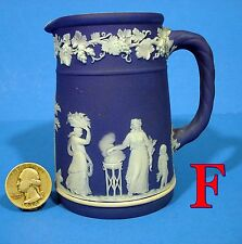 "Wedgwood Jasperware Cobalt Blue Dip 4"" Creamer cream pitcher open jug *F*"