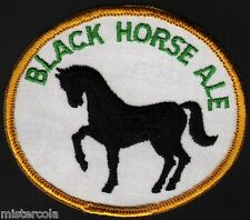 Vintage uniform patch BLACK HORSE ALE beer horse pictured new old stock n-mint+