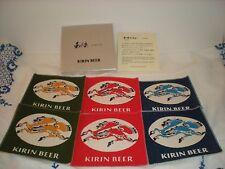 Unique Kirin Beer Cloth Coasters from Japan, Original Box