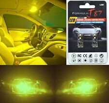 Canbus Error LED Light 168 Yellow 3000K Two Bulbs License Plate Replace Upgrade