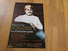 PHILANTHROPIST Edward FOX & BROOKE-TAYLOR 1991  Lyceum Theatre SHEFFIELD Poster