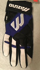 MIZUNO MARQUIS BATTING GLOVE ADULT RIGHT HAND SMALL BLACK/ROYAL BLUE