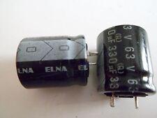ELNA ELKO 330µF 63V (Q) CE125°C *Neu* *10 Stück*