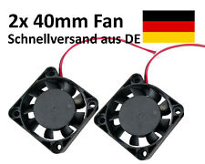 2x 40mm ventilador FAN 12v 4cm CASE CARCASA Cooler radiador impresora 3d Printer