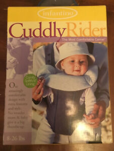 Infantino Baby Carrier- Cuddly Rider 8-26 Lbs. Blue/Gray