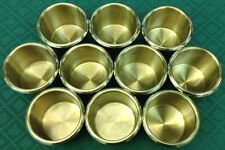 DRINK HOLDER - 10 POKER BRASS DROP IN FOR CANS BOTTLES GLASSES - FREE SHIPPING *