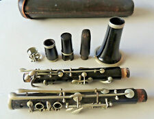 Antique Wood Clarinet Albert Simple System Wood Mouthpiece and Cap Leather Case