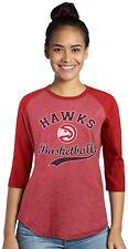 HAWKS DWIGHT HOWARD NBA MAJESTIC WOMEN'S TRI-BLEND 3/4 RAGLAN SLEEVE X-LARGE NEW
