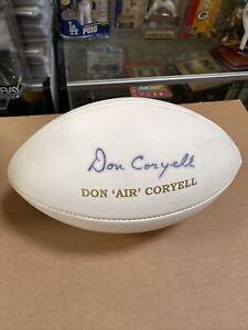 Don Coryell Signed Football JSA Authentication Chargers Aztecs Cardinals