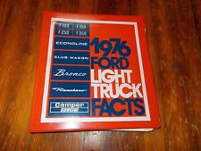 NOS 1976 FORD F100 F250 F350 BRONCO RANCHERO ECONOLINE CLUB WAGON DEALER ALBUM