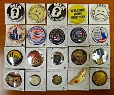 Lot of 20 Pow Mia Military Navy Korean War Wwii Japan German Pin Pinback Button