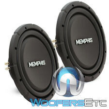 "(2) MEMPHIS SRXS1244 12"" DUAL 4-OHM SHALLOW SUBWOOFERS THIN BASS SPEAKERS NEW"