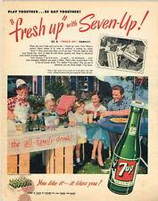 "Original 1951 7up ""Ice Cream Float Stand"" ad 10½ x 14 inches tavern trove"