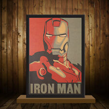 Retro Hollywood Movie Poster Iron Man Picture Wall Sticker Drawing Nostalgic NEW