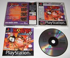 PS1 - WORMS PINBALL (Sony PlayStation) - complete