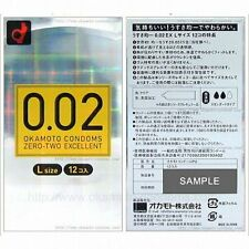 Okamoto 002 0.02EX Zero-Two Excellent L-size Condom 12-Pcs, Made in Japan