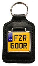 FZR 600R Reg (GB) Number Plate Leather Keyring for Yamaha FZR600R Exup NOS