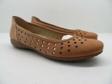 LADIES REMONTE D0525 SLIP ON SQUARE TOE CASUAL EVERYDAY FLAT LEATHER SHOES