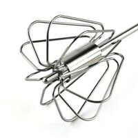 Manual Self Turning Stainless Steel Miracle Push Whisk Egg Mixer 9 Beater X4R1