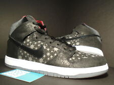 Nike Dunk High Premium SB BROOKLYN PROJECTS BP PAPARAZZI BLACK RED GREY PINK 11