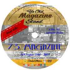 73 Magazine Amateur Radio Today 519 Issues 4 DVD Crystal Ham Wireless Antenna