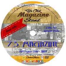 73 Magazine Amateur Radio Today 519 Issues 4 DVD Crystal Ham Wireless Antenna