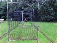 L-Screen 7' x 7' Residential Baseball Safety Frame & #42-60Ply Pitcher L Screen