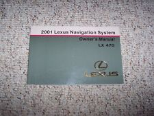 2001 Lexus LX470 LX 470 Navigation System Owner User Manual Guide Book