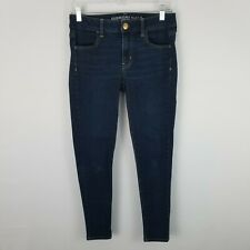 American Eagle Jeans Size 4 Short Womens Dark Wash Skinny Super Stretch Jeggings