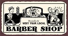 (VMA-L-6564) Barber Shop Vintage Metal Art Hairdresser Barber Retro Tin Sign